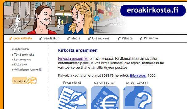 Eroakirkosta.fi-sivuston mielestä kirkko uutisoi erikoisesti liittymis- ja eroamislukujaan.