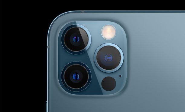 Iphonen kamera voi vaurioitua tärinästä.