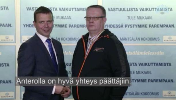 Kokoomuksen puheenjohtaja Petteri Orpo kehui Auraa 4. helmikuuta julkaistulla vaalivideolla.
