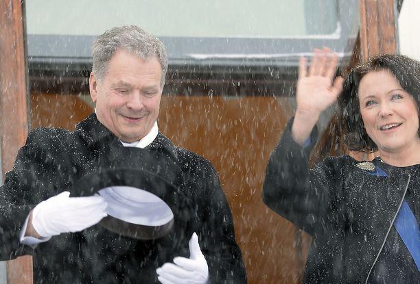 Tasavallan presidentti Sauli Niinistö aloitti vuosi sitten toisen virkakautensa.