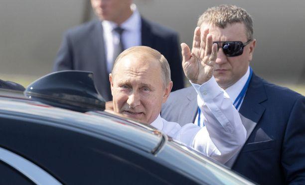 Vladimir Putin saapui Helsinkiin maanantaina iltapäivällä.