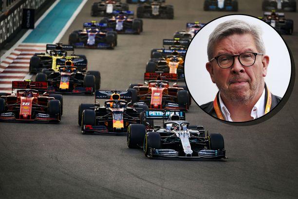 Ross Brawn joutuu miettimään F1:n johdossa tarkkaan, millaisia päätöksiä sarja tekee koronaviruksen suhteen.