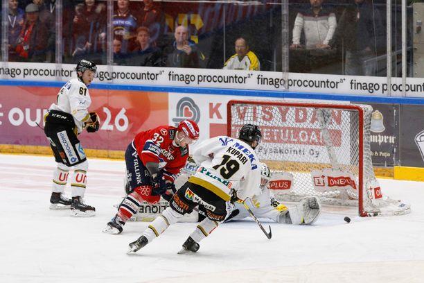 Rasmus Kupari ei ole tänään Kärppien kokoonpanossa.