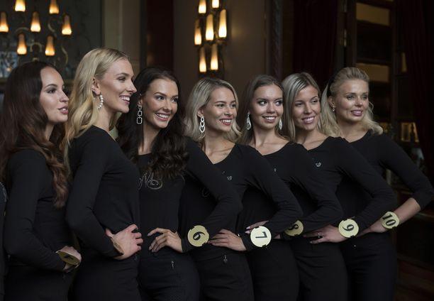 Kuvassa vuoden 2019 Miss Suomi -finalistit.