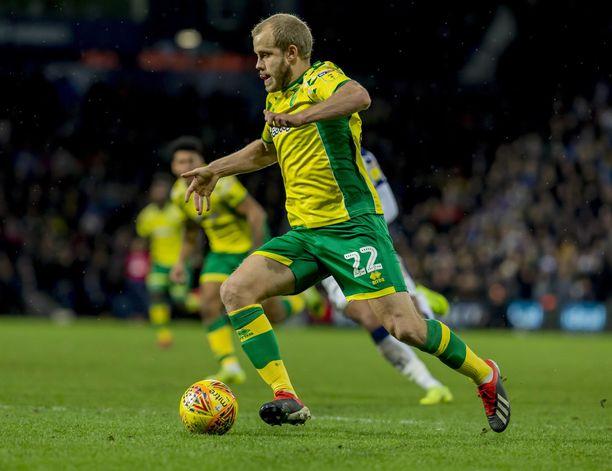 Teemu Pukki osui Birminghamia vastaan. Norwich voitti 3-1.