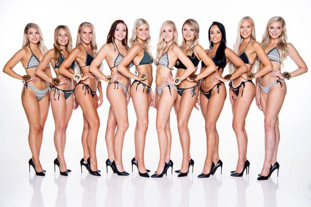 Kuvassa kaikki Miss suomi 2018 -finalistit.