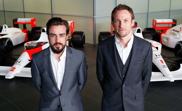 Fernando Alonso ja Jenson Button kääntävät ensi kaudella McLarenin rattia F1-radoilla.