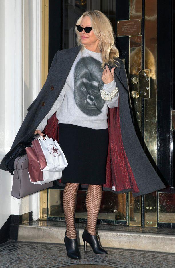 Pamela Anderson vie usein Julian Assangelle ruokaa.