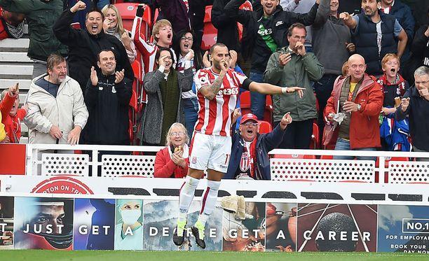 Stoken tuore hankinta Jesé iski voittomaalin Arsenalin verkkoon.