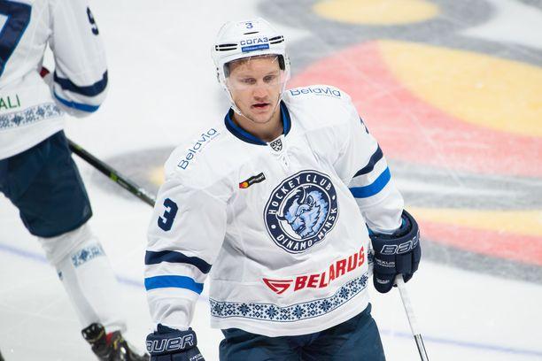 Teemu Pulkkinen on Dinamo Minskin paras pistemies tehoilla 8+8=16.