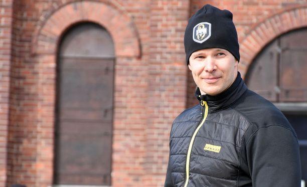 Tero Pitkämäki on kovassa kunnossa. Kuva on otettu maaliskuun lopussa Turussa.