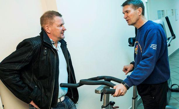 Kari Heikkilä ja Erkka Westerlund tapasivat Nizhnekamskissa.
