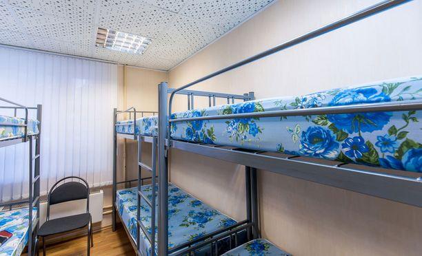 Hostelleiden dormihuoneissa on yleensä kerrossängyt.