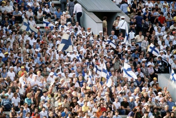 Olympiastadion oli loppuunmyyty vuoden 1998 Suomi-Ruotsi maaottelussa.