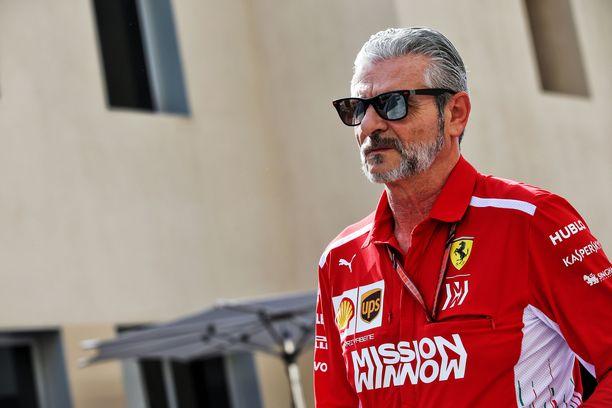 Maurizio Arrivabene jaksoi neljä vuotta johtaa Ferrarin F1-toimintaa.