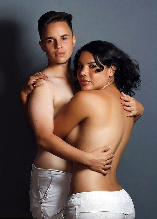 Lapsen synnyttänyt Fernando (vas.) on komea kuin poikabändin jäsen. Äiti (ja biologinen isä) Diane haluaa korostaa naisellisuuttaan.