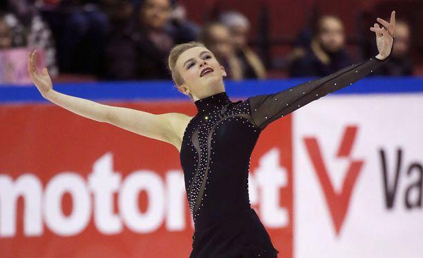 Emmi Peltonen voitti uransa ensimmäisen taitoluistelun SM-kullan.
