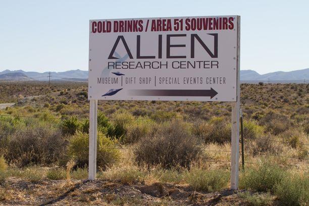 Huippusalaisen alue 51:n nimellä myydään matkamuistoja Nevadassa USA:ssa.