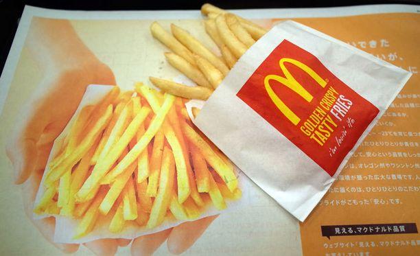 Japanin McDonald's-ravintoloista saa jatkossa vain tämän kokoisia ranskalaisia.