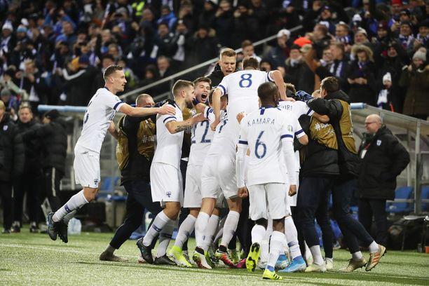 Suomi varmisti historiallisen kisapaikkansa voitolla Liechtensteinista.