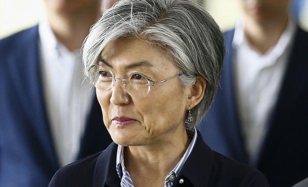Etelä-Korean ministeri Kang Kyung-wha tapasi Pohjois-Korean ulkoministerin.