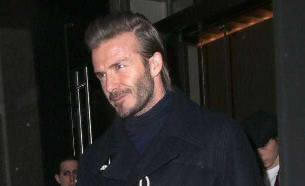 David Beckham lomailee perheineen Kanadassa.