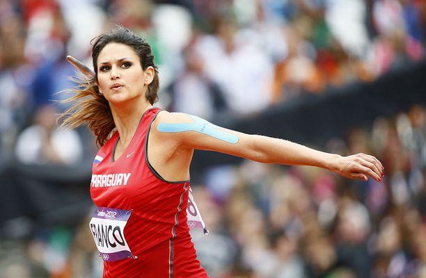 Leryn Franco heitti vuonna 2012 ennätystuloksensa 57,77.