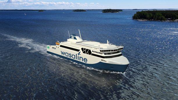 Havainnekuva Wasalinen tulevasta aluksesta.