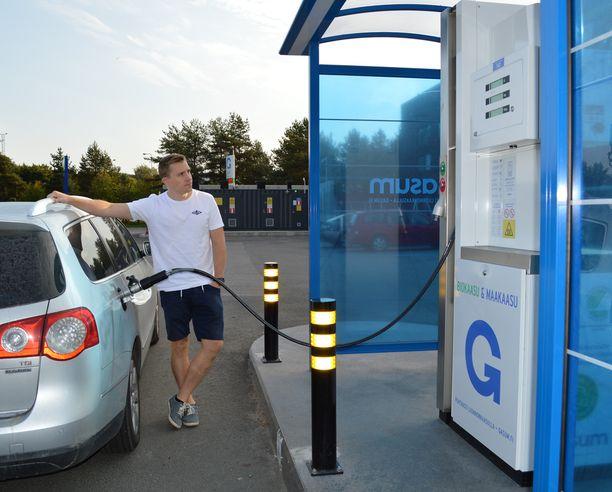 Sauli Jaakkola käyttää autossaan yksinomaan ympäristöystävällistä biokaasua.