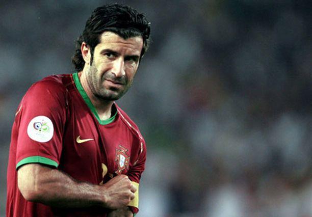 Portugalin maajoukkueen kapteeni Luis Figo pelasi viimeiset arvokisansa.