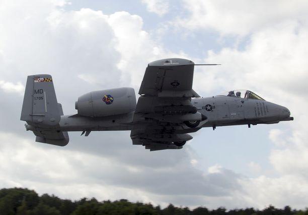 A-10 Thunderbolt kuvattuna Virossa elokuussa.