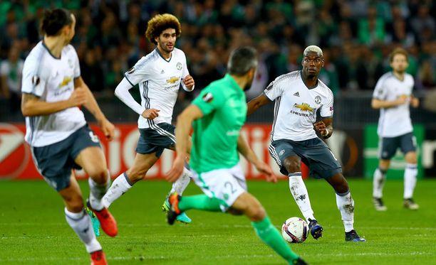 Manchester United pyöritteli edellisvaiheessa kumoon ranskalaisen Saint-Etiennen.