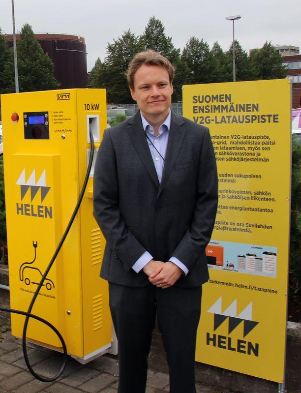 Juha Karppinen arvioi, että ensimmäiset kohtuuhintaiset kotilatausasemat nähdään viiden vuoden sisällä.