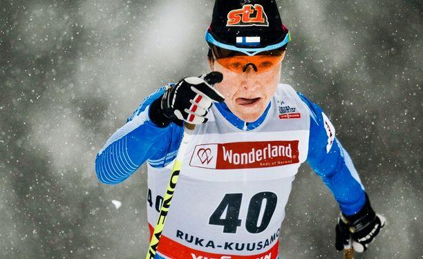 Aino-Kaisa Saarinen jatkaa Suomen mc-joukkueessa.