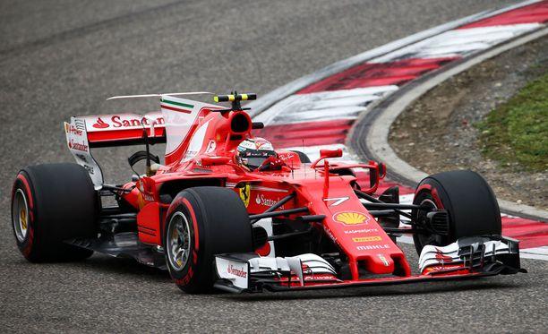 Kimi Räikkönen sijoittui aika-ajossa neljänneksi.