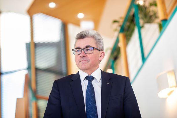Metsä Boardin toimitusjohtaja Mika Joukio.
