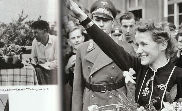 Hanna Reitsch ja natsitervehdys Hirschbergissä 1941.
