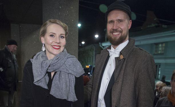 Pariskunta edusti yhdessä vuoden 2016 Linnan juhlissa.