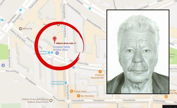 Teko tapahtui Helsingissä Aleksis Kiven kadulla.
