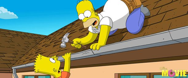 Homer toilaili Simpsonit-elokuvassa vuonna 2007.