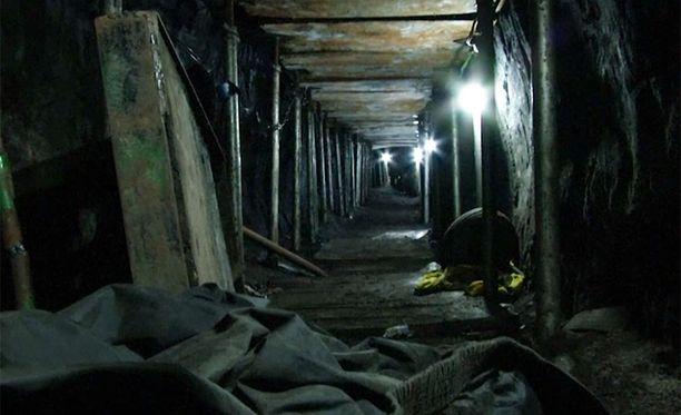 Tunnelia kerittiin kaivaa neljä kuukautta.