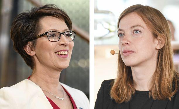 Puoluejohtajat Sari Essayah (kd) ja Li Andersson (vas) olivat napit vastakkain Twitterissä.