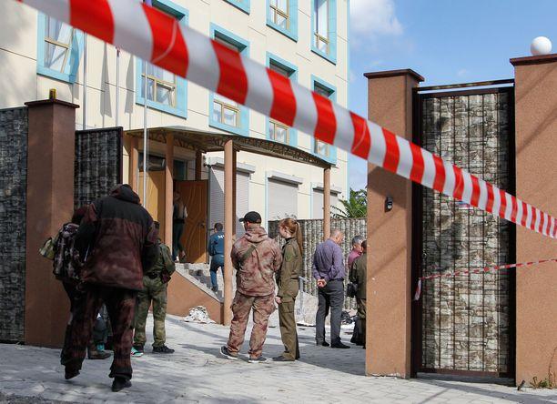 Donetskissa tapahtuu räjähdyksiä vuosittain. Kuvassa räjähdys viime syksyltä, missä loukkaantui neljä ihmistä.