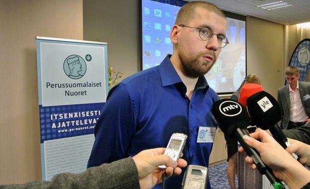 Sebastian Tynkkynen valittiin kunnallisvaaleissa Oulun kaupunginvaltuustoon.