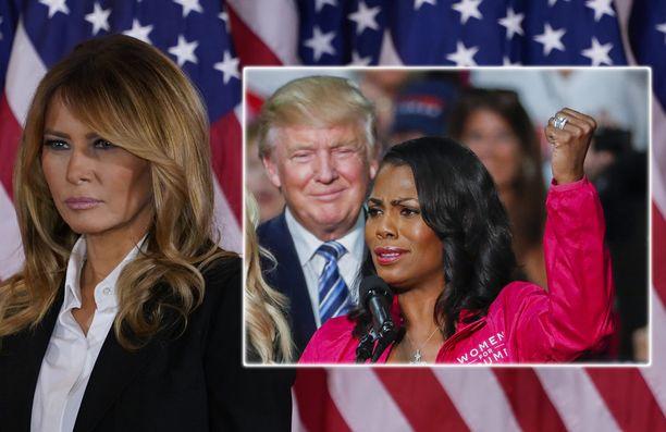 Diilistä tuttu Omarosa Manigault Newman hämmentää Trumpien parisuhdesoppaa.