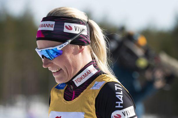 Anne Kyllönen oli huojentunut perjantaina Kainuussa.