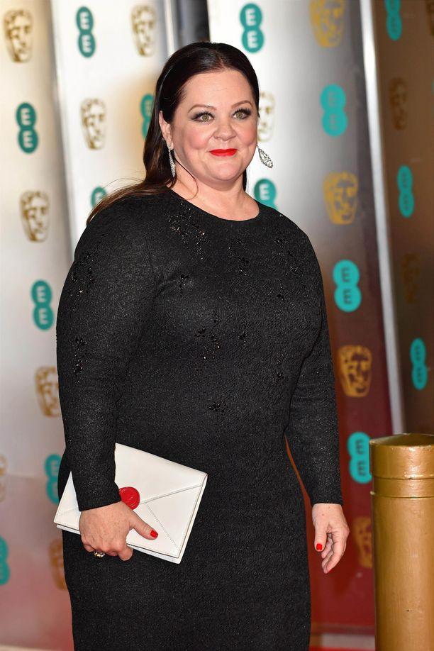 Melissa McCarthy BAFTA-palkintogaalassa.