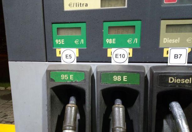 VÄÄRIN! Oikeasti 95E on E10 ja 98E on E5.