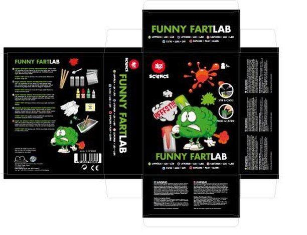 Lelu Tuotenimi: Alga Funny Fart Lab Vaaran laji: Palo