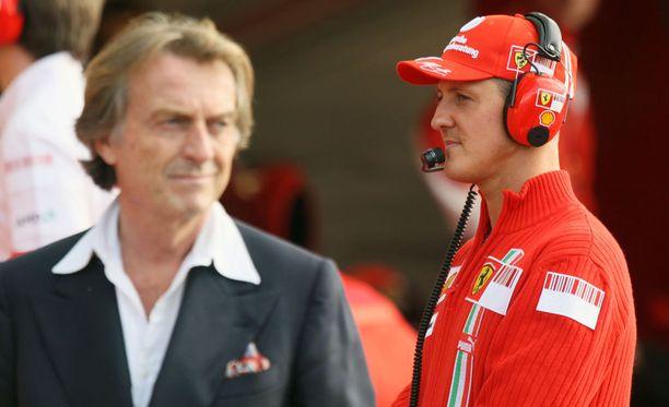 Luca di Montezemolo ja Michael Schumacher tekivät pitkään menestyksekästä yhteistyötä Ferrarilla.